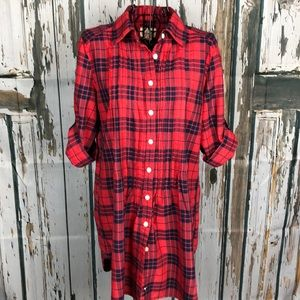 Levi's red and blue plaid shirt / dress